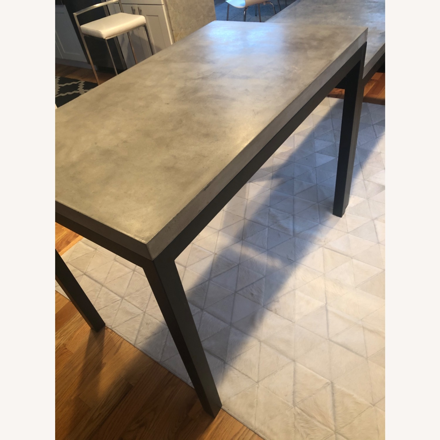 Crate & Barrel Concrete High Dining Table - image-4