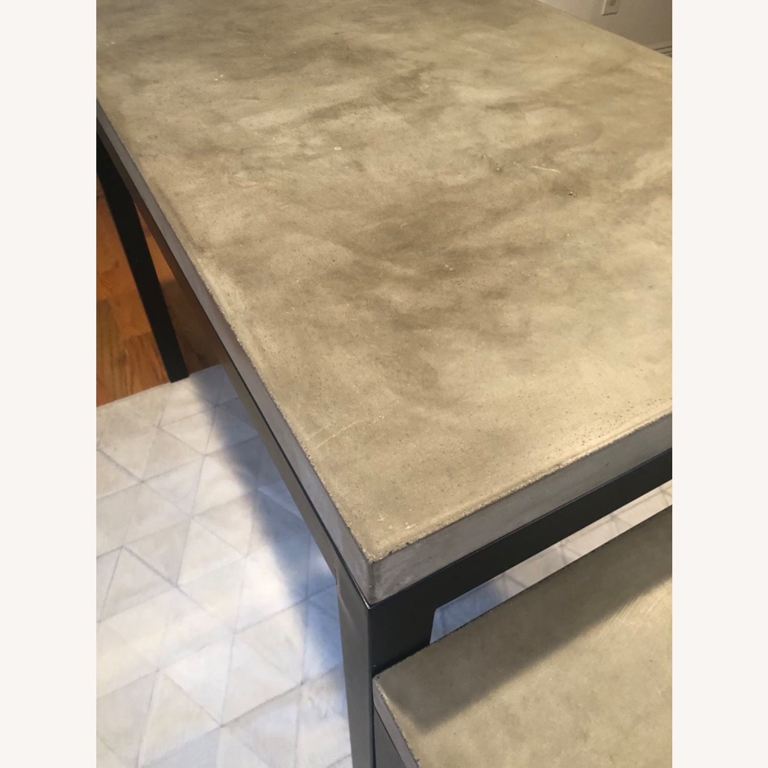 Crate & Barrel Concrete High Dining Table - image-5