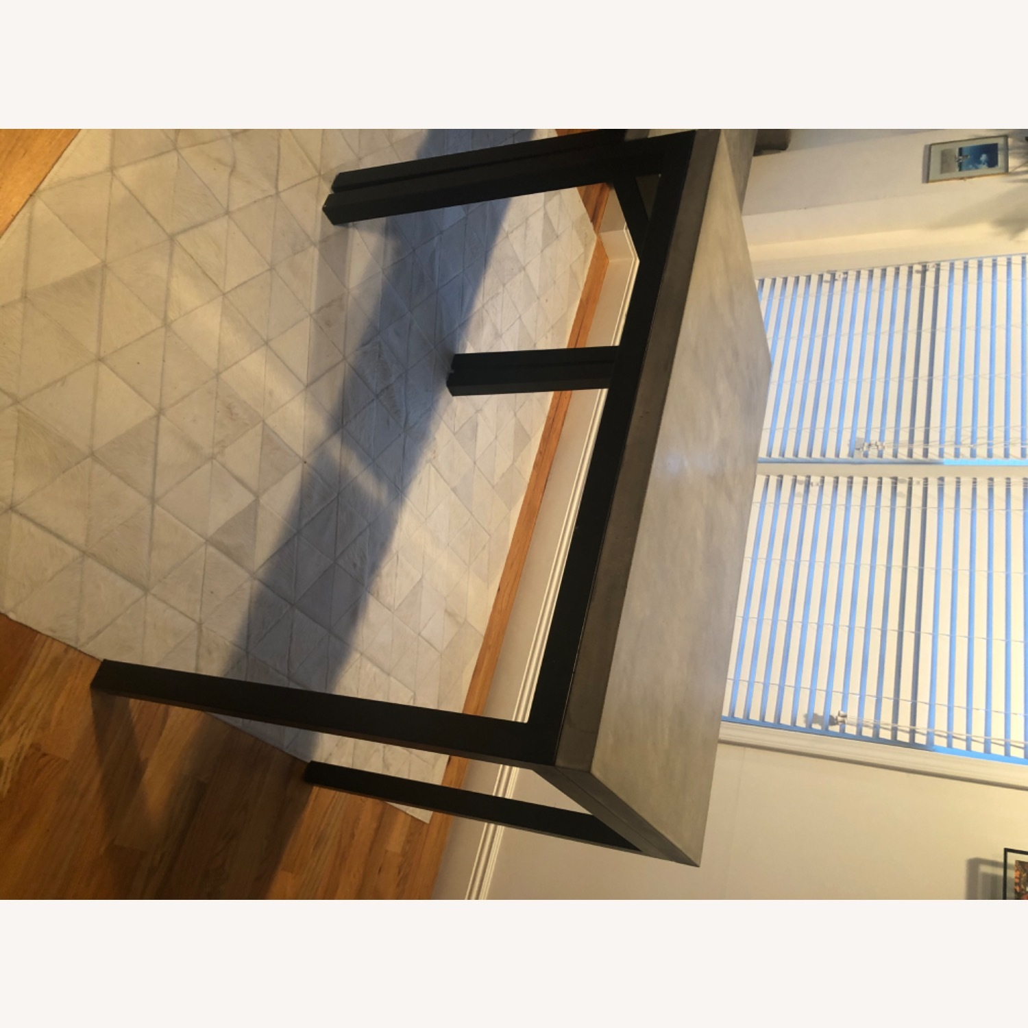 Crate & Barrel Concrete High Dining Table - image-9