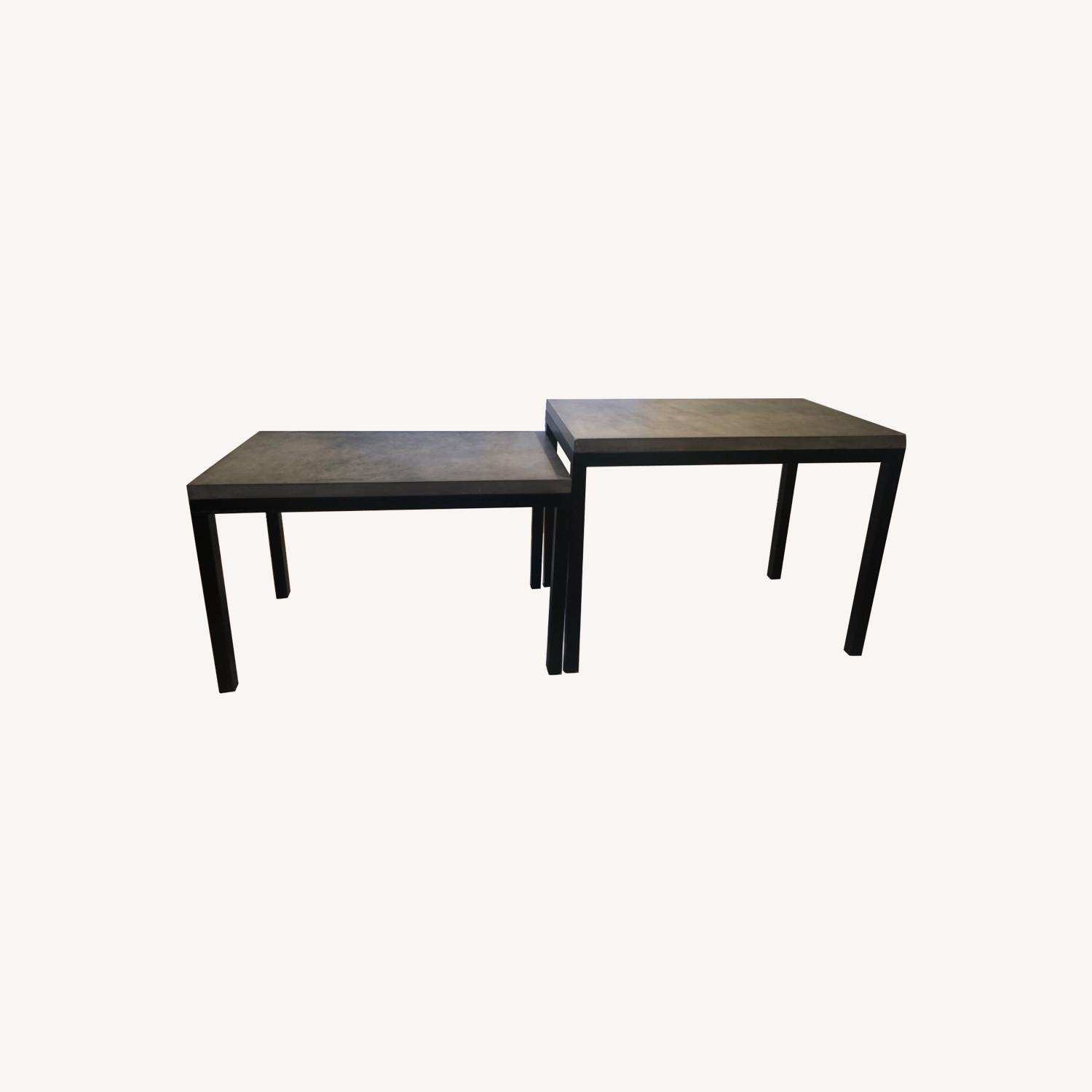 Crate & Barrel 2 Concrete Dining Tables - image-0