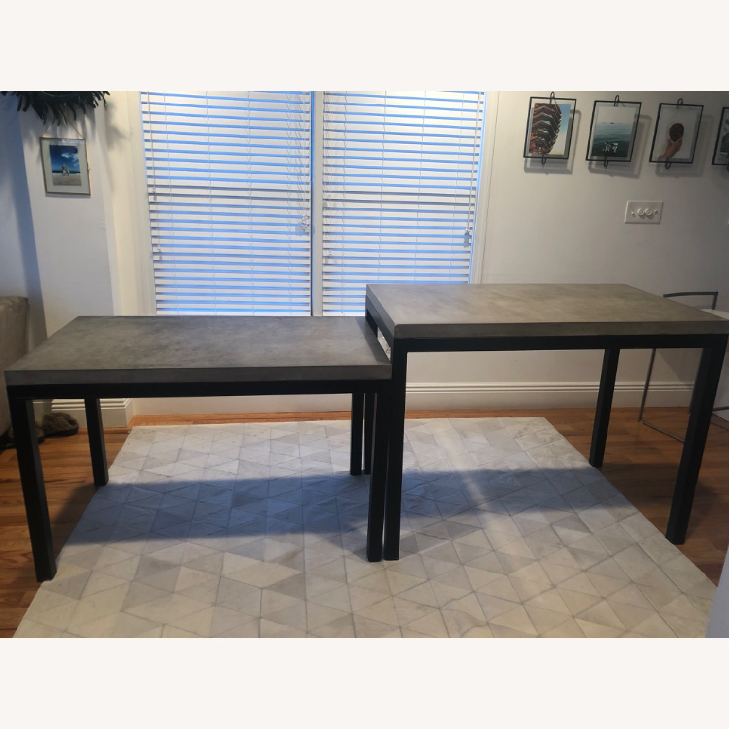 Crate & Barrel 2 Concrete Dining Tables - image-1