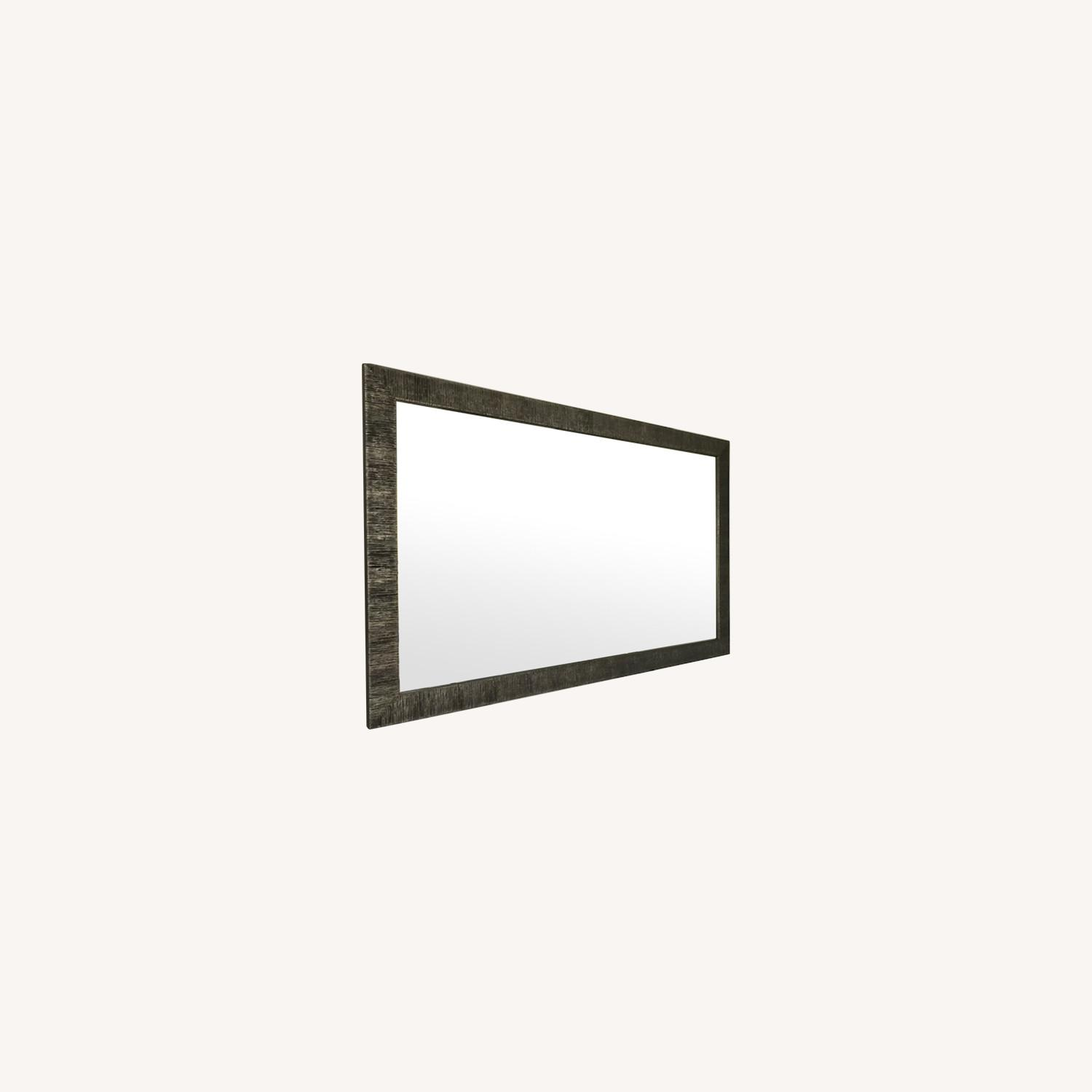 Crate & Barrel Siver Birch Wall Mirror - image-0