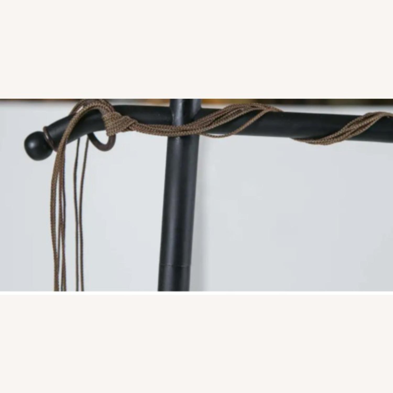 Venetian Floor lamp w silk shade - image-4