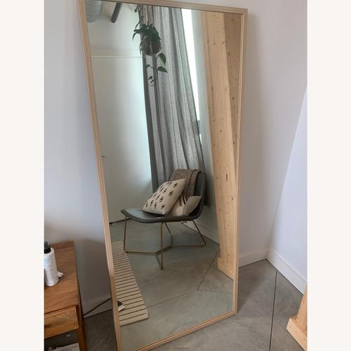 Used IKEA Full-length Natural Wood Floor Mirror for sale on AptDeco
