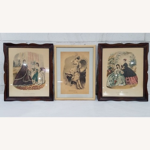 Used French Framed Poster Prints Lot of 3 for sale on AptDeco