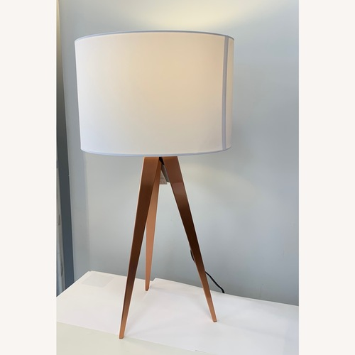 Used Adesso Home Director Table Lamp Brushed Copper for sale on AptDeco