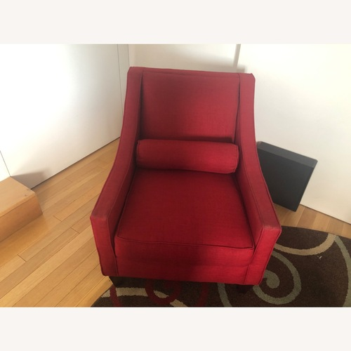 Used Red ArmChair for sale on AptDeco