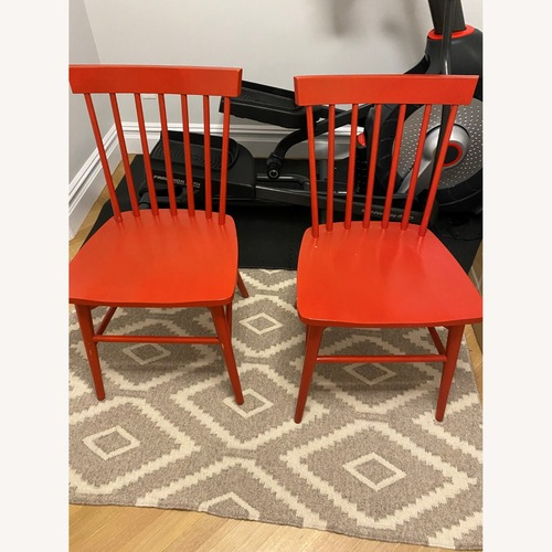 Used Set of Red Dining Chairs for sale on AptDeco