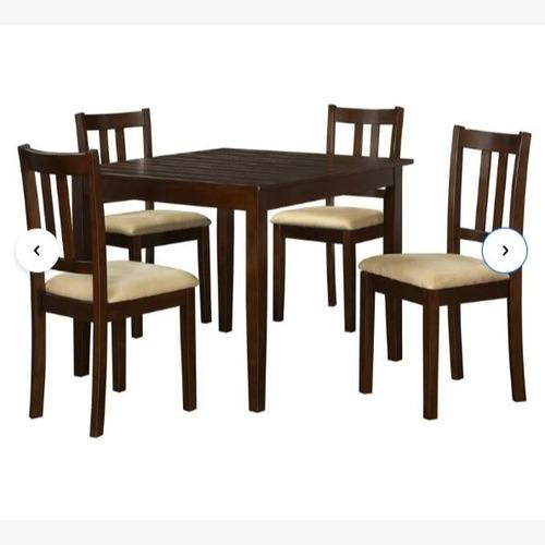 Used Wayfair 5 Piece Dining Set (Dark Brown) for sale on AptDeco