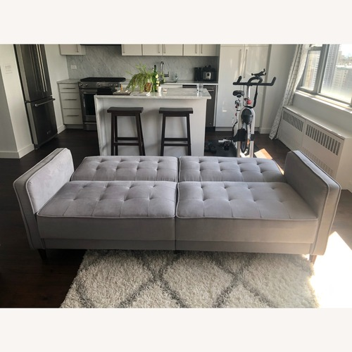 Used Wayfair Pepperell Grey Square Arm Sofa Bed for sale on AptDeco