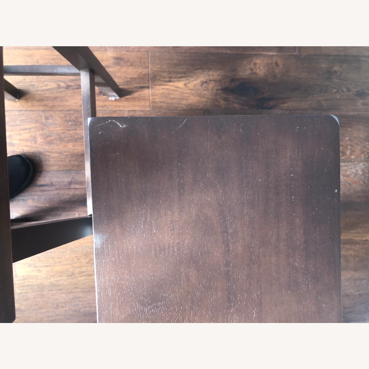 Walnut Kitchen Counter Stool with Foot Plate - image-4