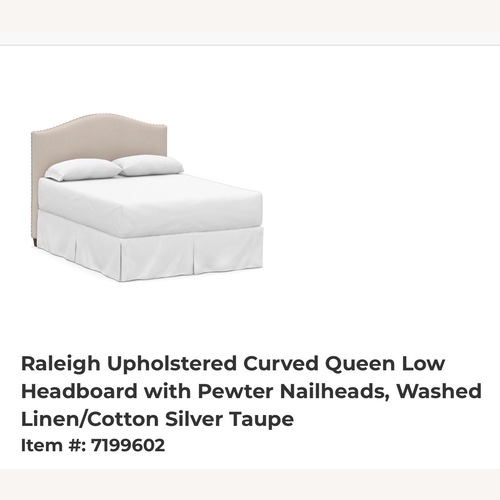 Used Pottery Barn Queen Headboard with Bed Frame for sale on AptDeco