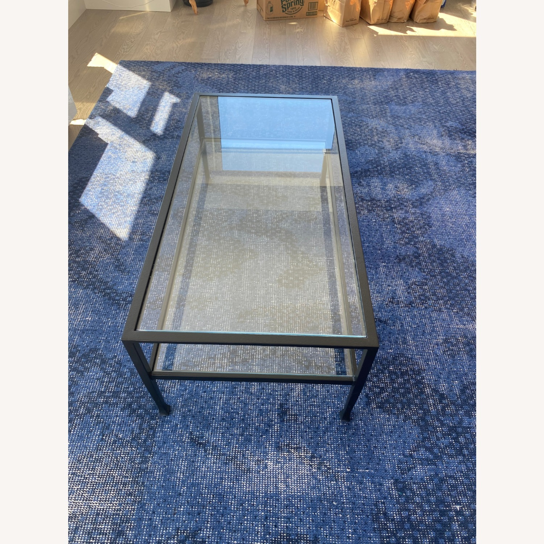 Pottery Barn Glass Coffee Table - image-4