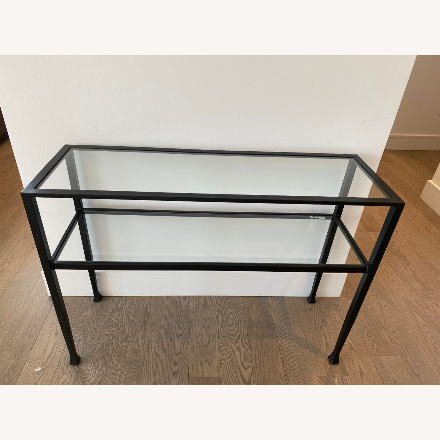 Pottery Barn Glass Console Table - image-1
