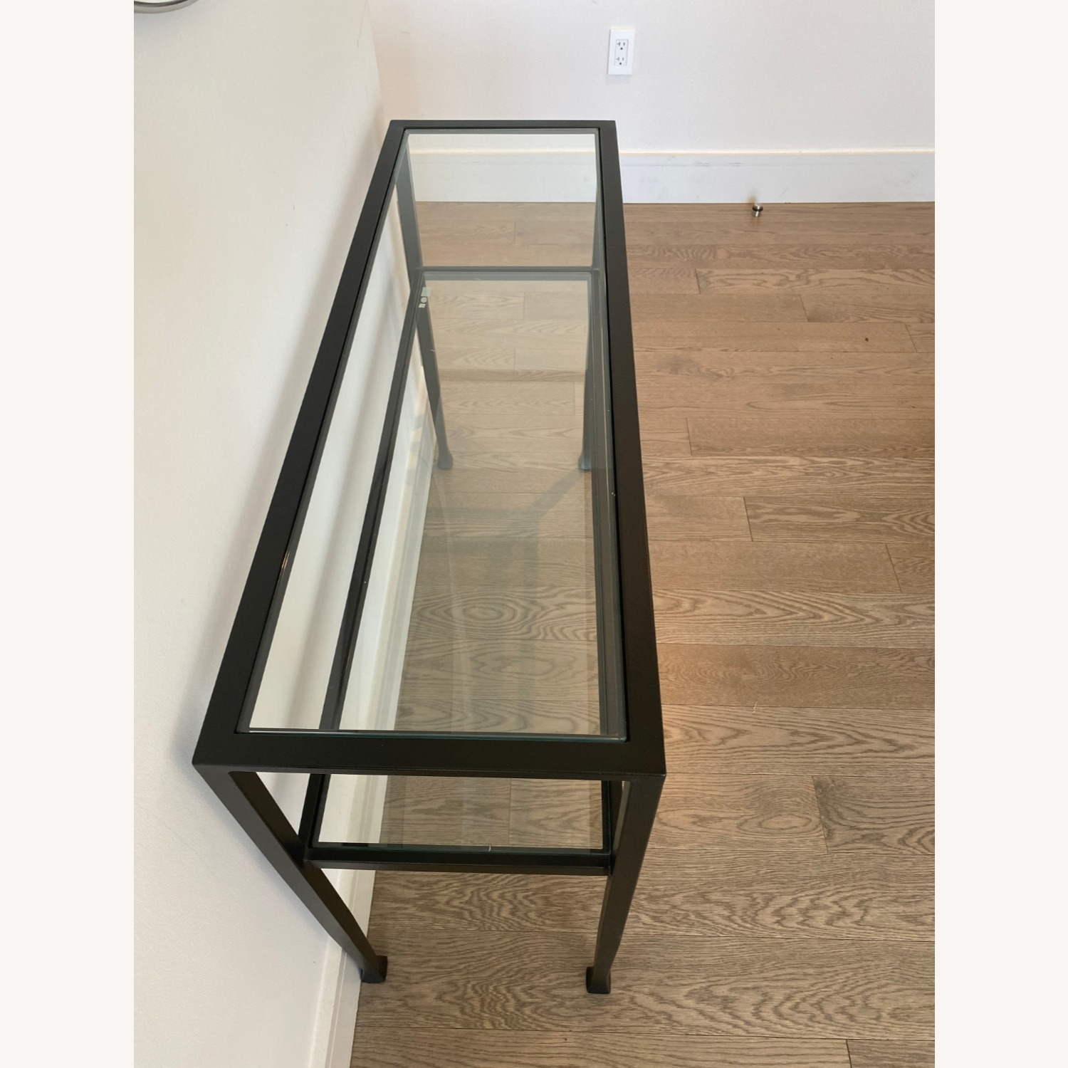 Pottery Barn Glass Console Table - image-3