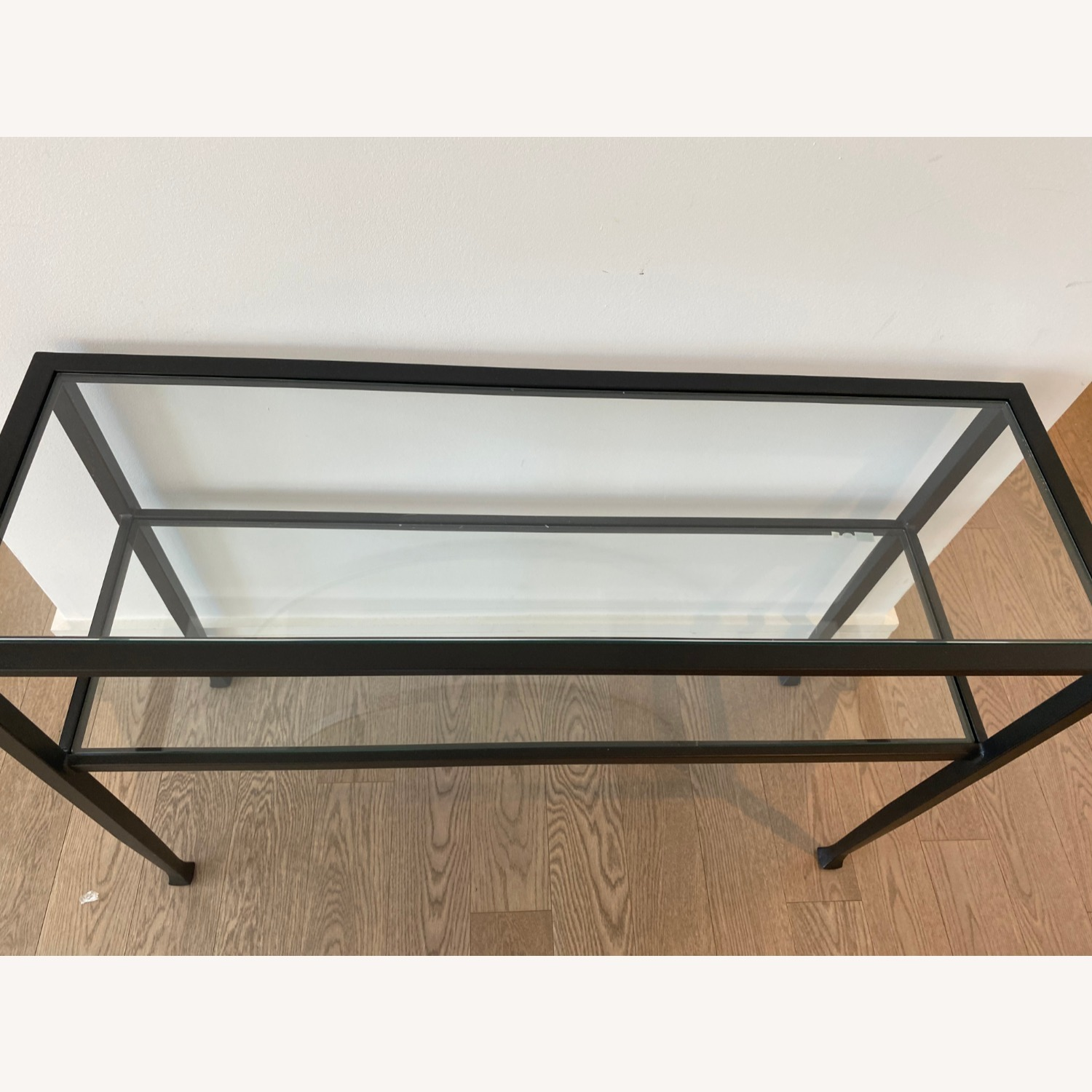 Pottery Barn Glass Console Table - image-2