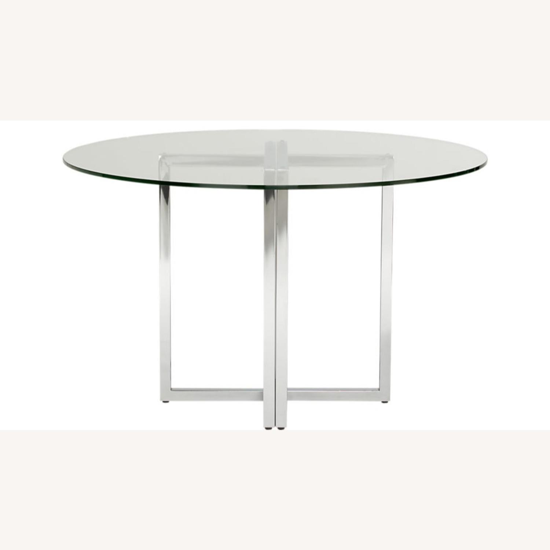 CB2 Silveradon Chrome Round Dining Table - image-7