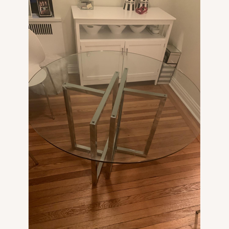 CB2 Silveradon Chrome Round Dining Table - image-4