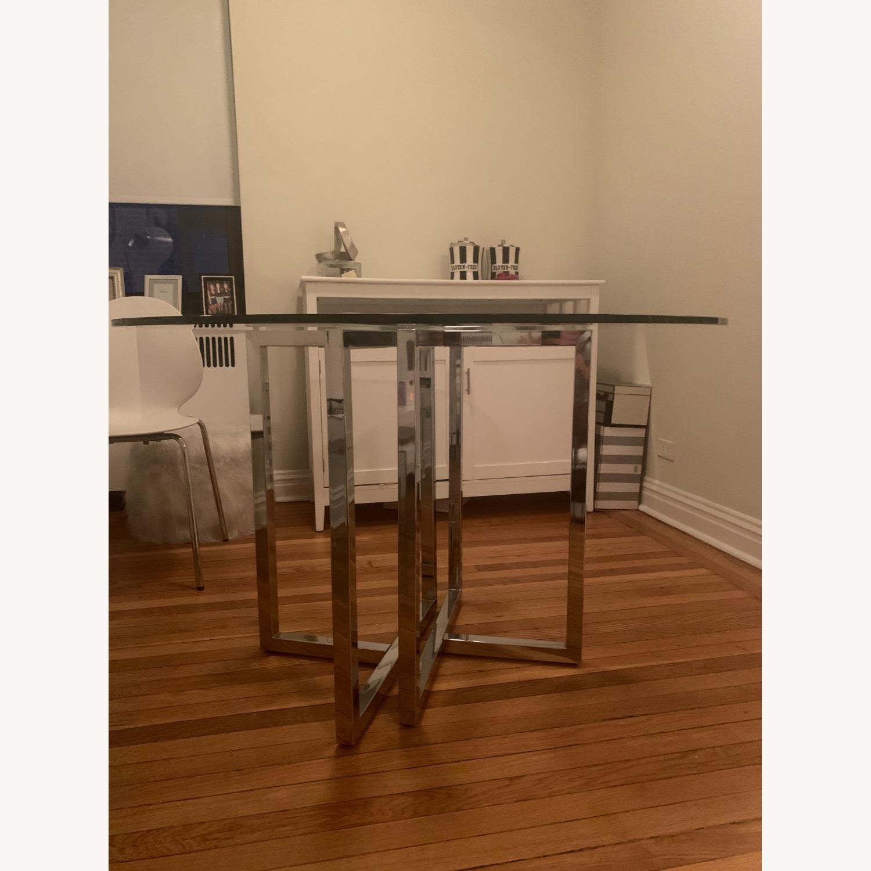 CB2 Silveradon Chrome Round Dining Table - image-3