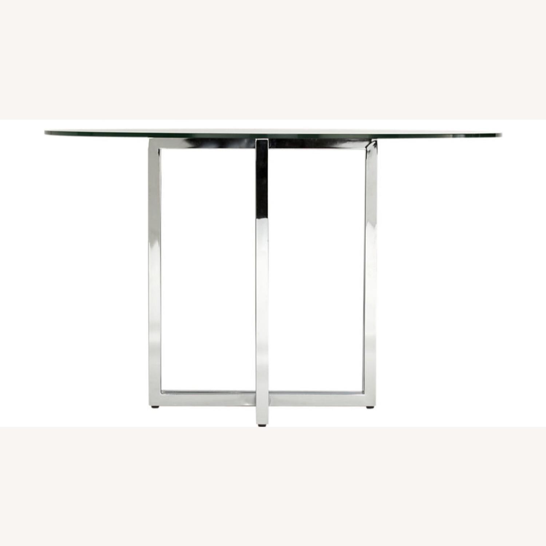 CB2 Silveradon Chrome Round Dining Table - image-6