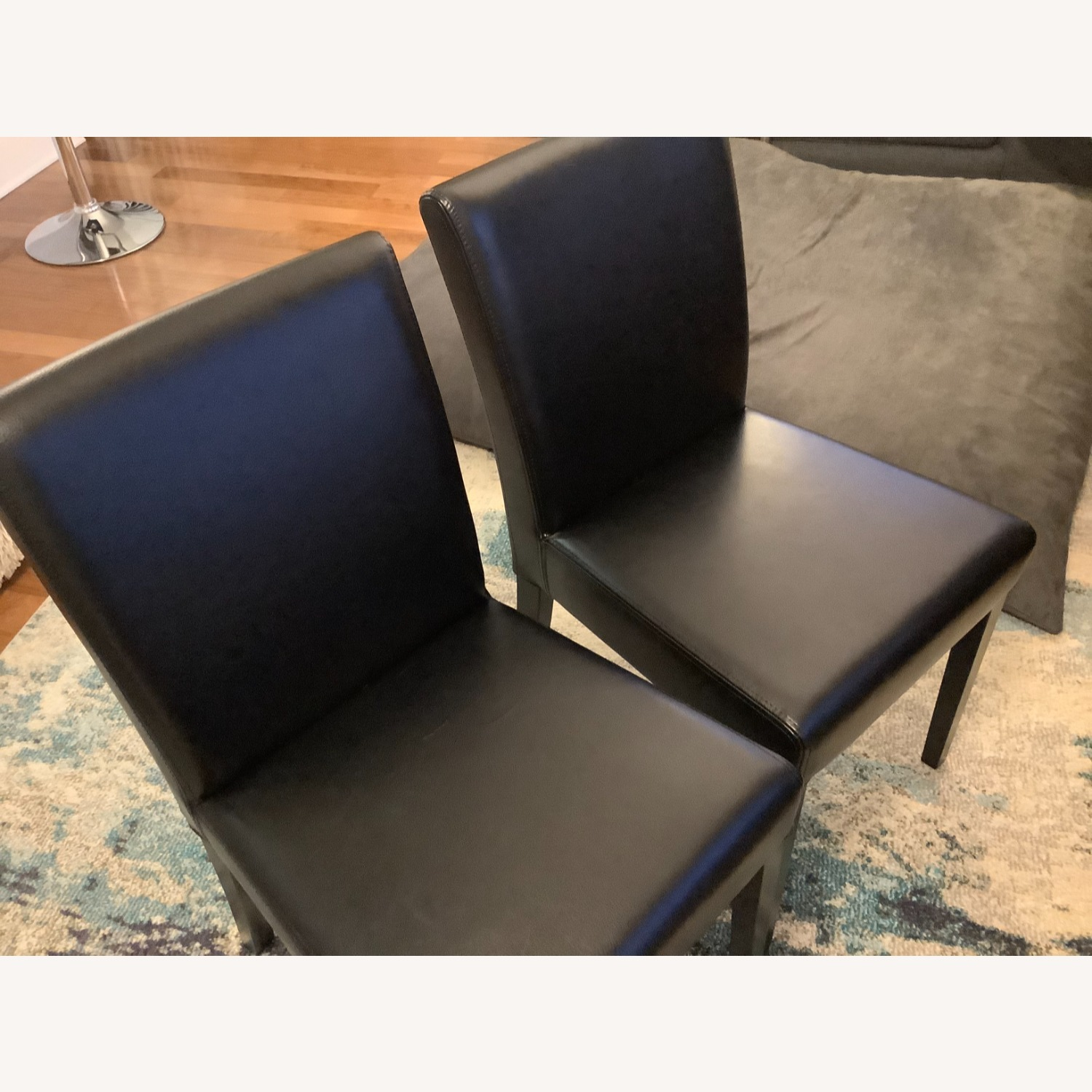 Crate & Barrel Lowe Leather Dining Chair - image-4