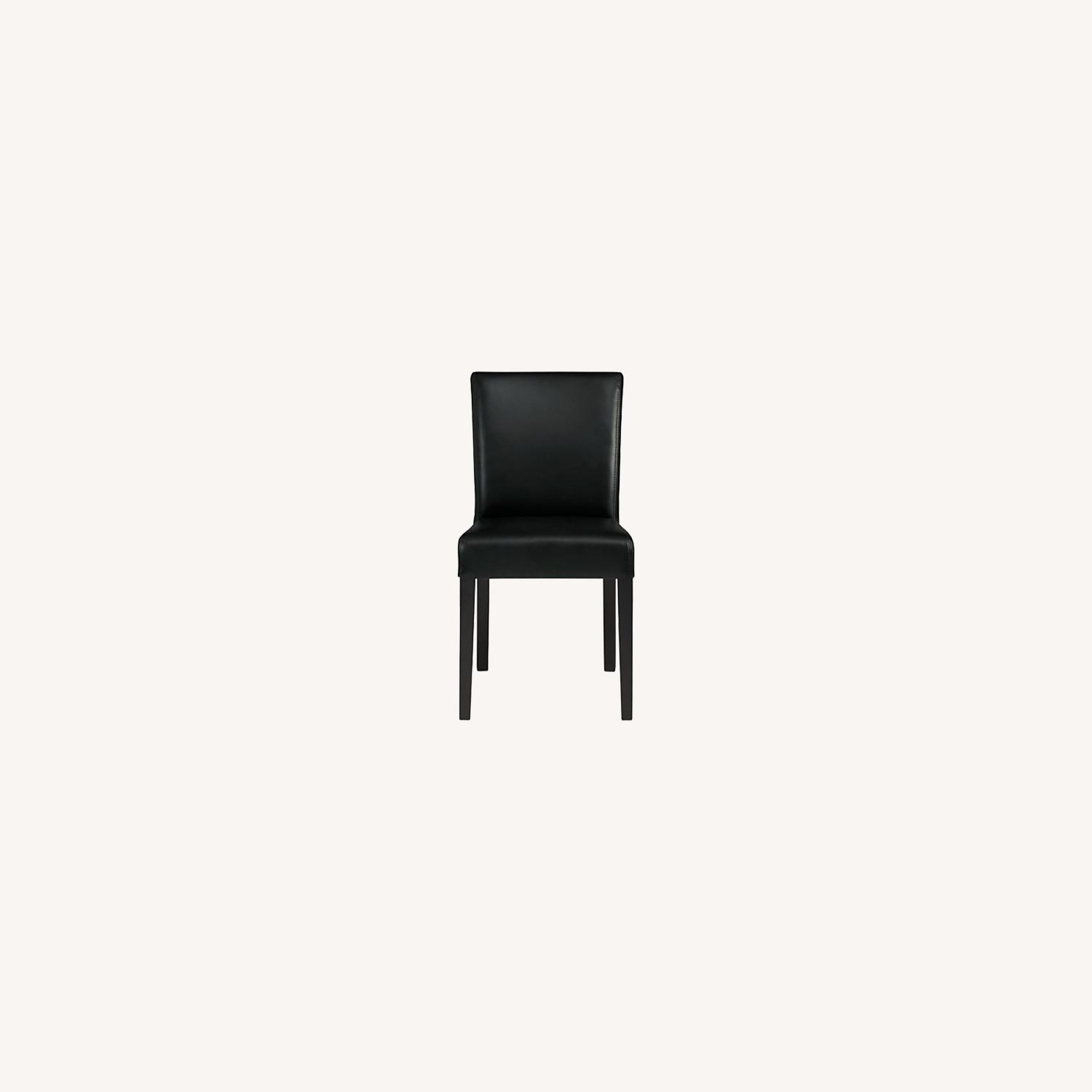 Crate & Barrel Lowe Leather Dining Chair - image-0