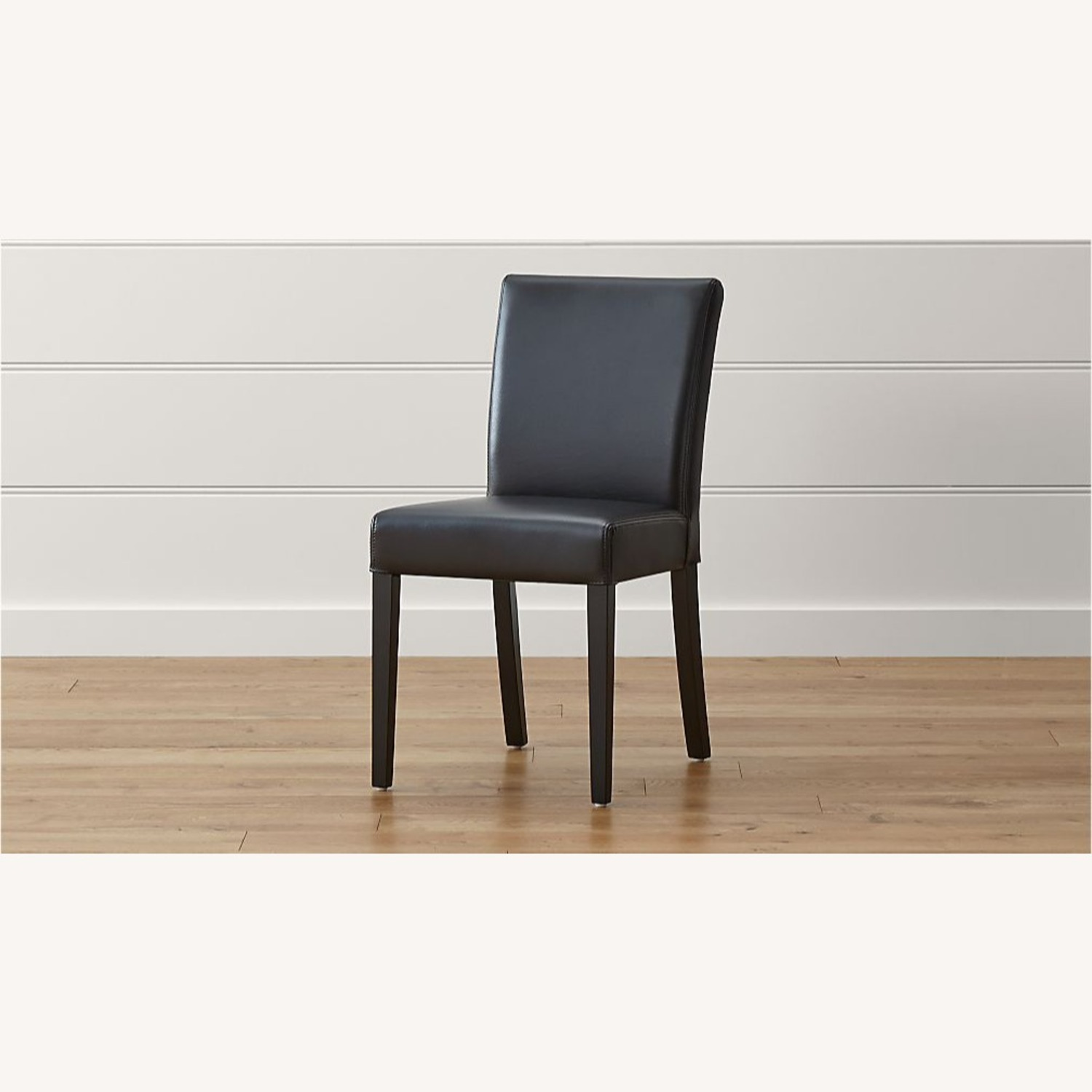 Crate & Barrel Lowe Leather Dining Chair - image-2
