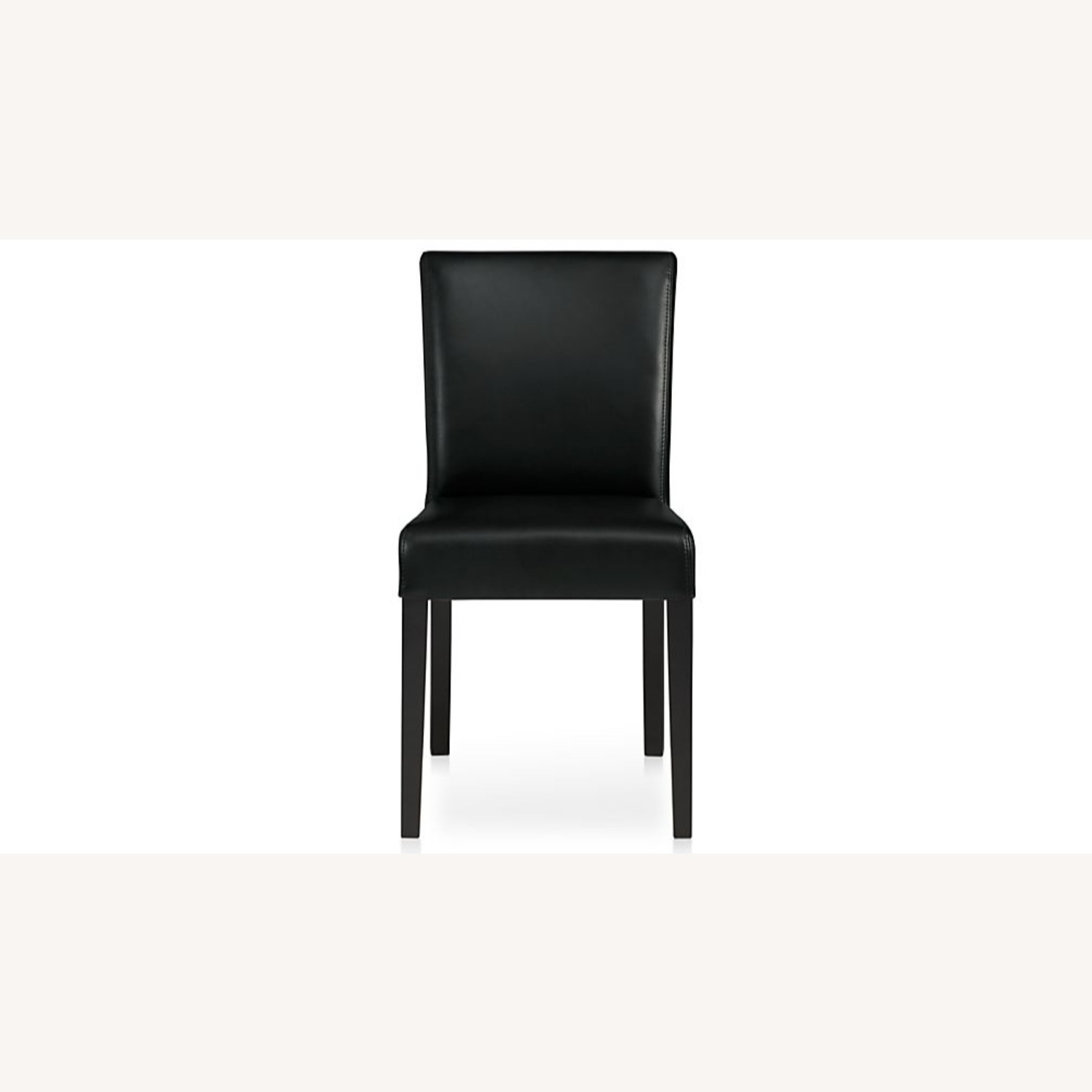 Crate & Barrel Lowe Leather Dining Chair - image-1