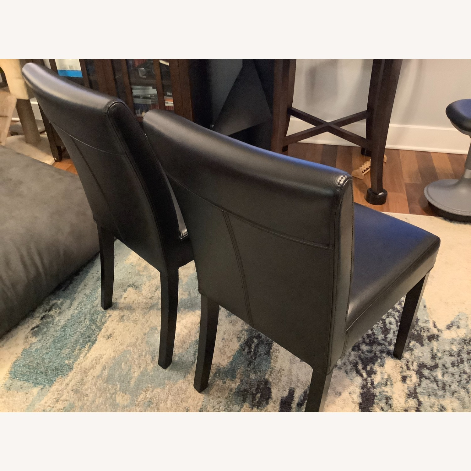 Crate & Barrel Lowe Leather Dining Chair - image-5