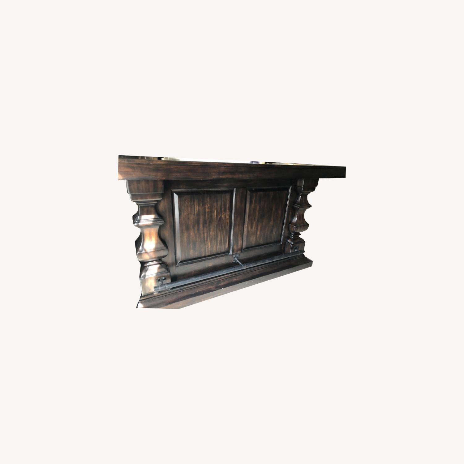Pottery Barn Bar with Marble Top - image-0