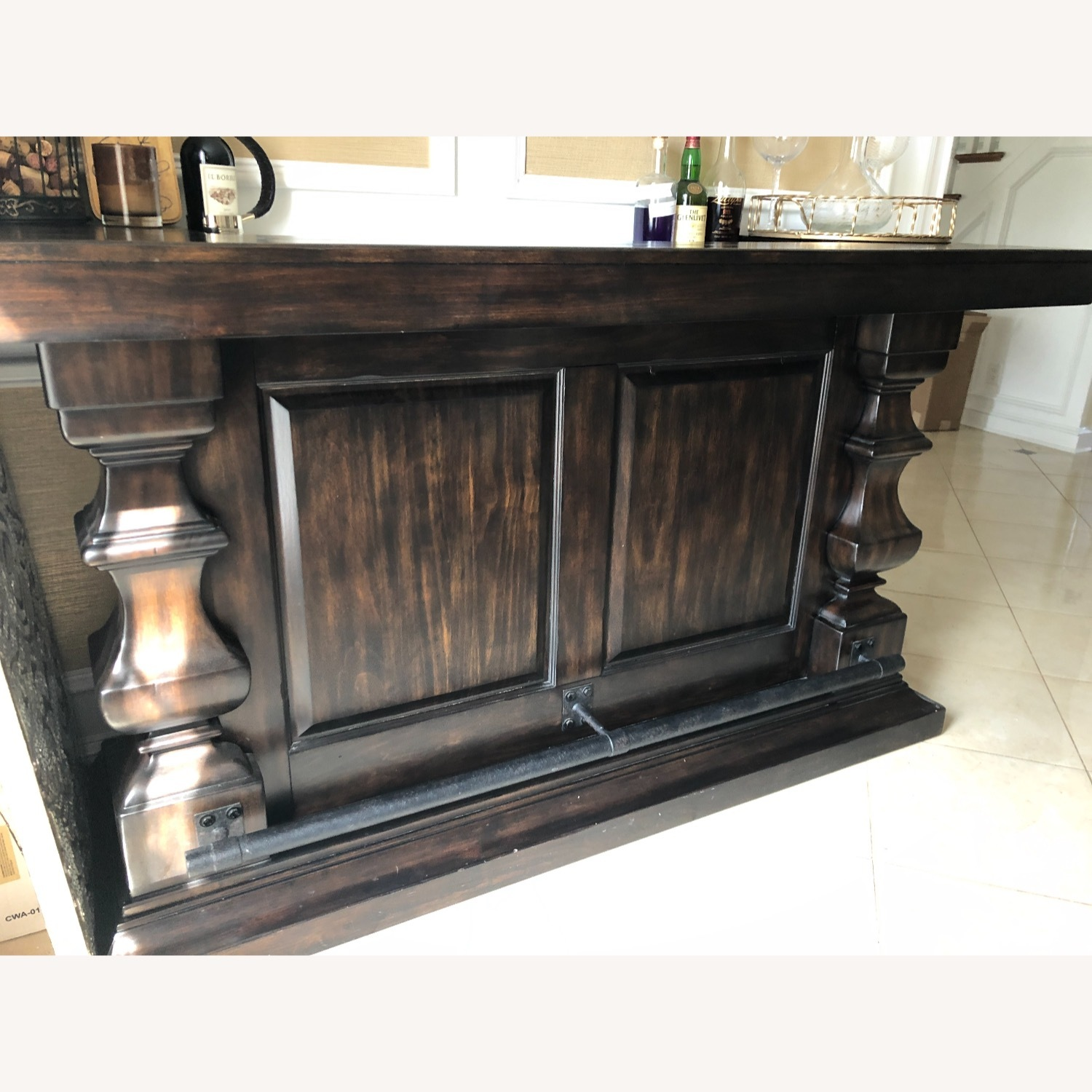 Pottery Barn Bar with Marble Top - image-5