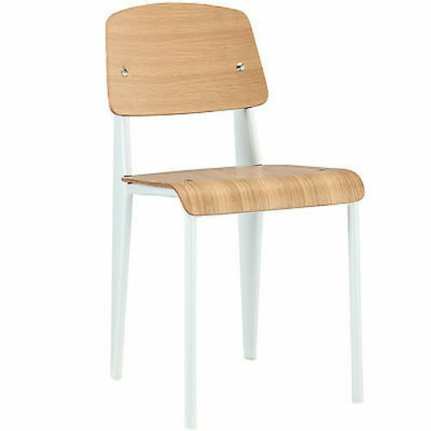 Jean Prouve Style Chair in Natural White - image-1