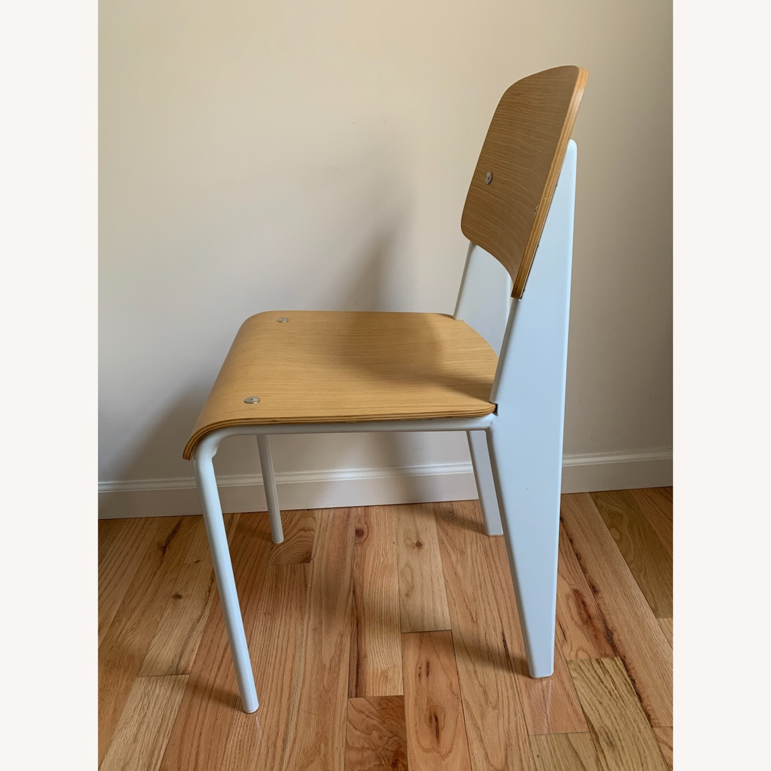 Jean Prouve Style Chair in Natural White - image-2