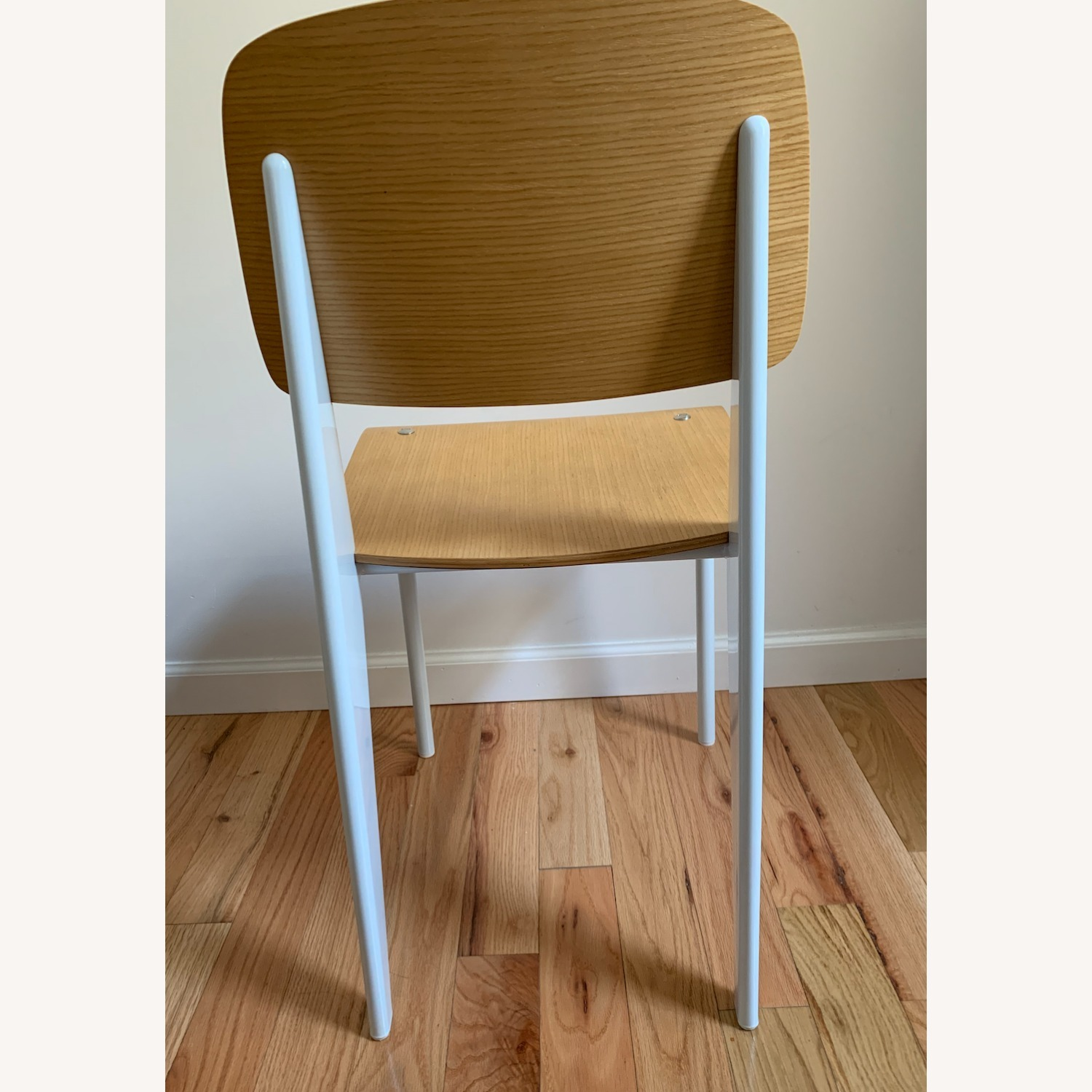 Jean Prouve Style Chair in Natural White - image-4