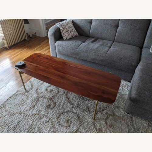 Used CB2 Adam Wood Coffee Table for sale on AptDeco