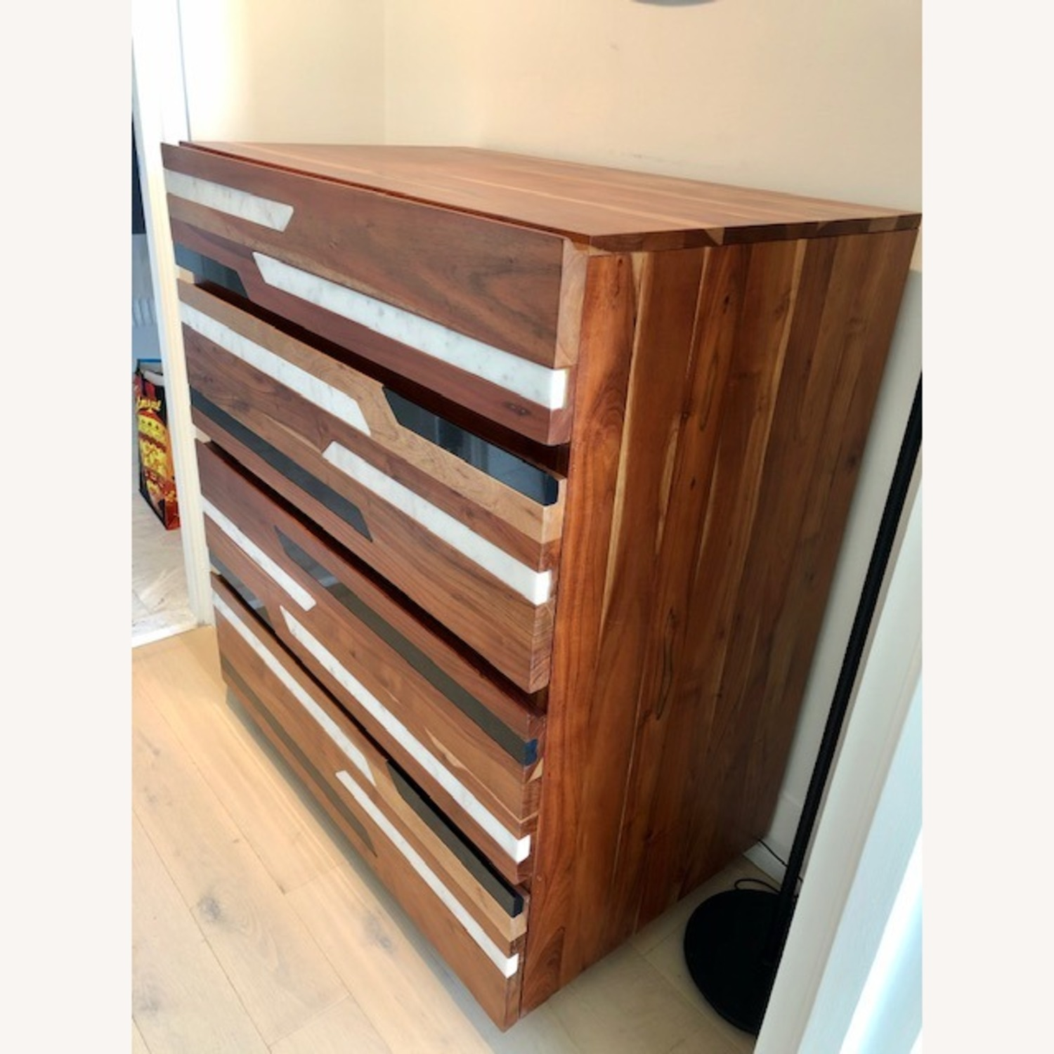 CB2 Edie Marble Inlay Tall Chest - image-3