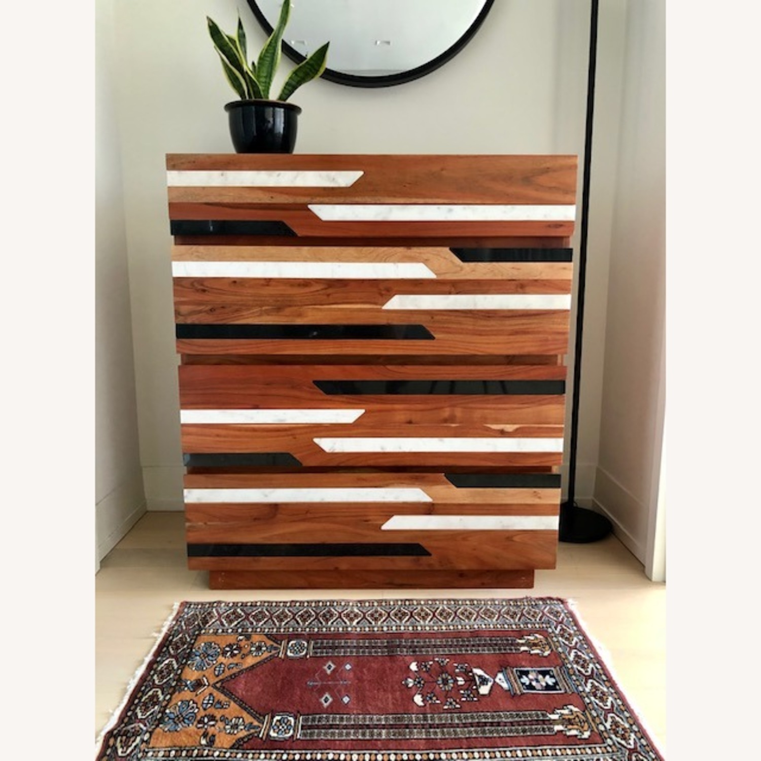 CB2 Edie Marble Inlay Tall Chest - image-1