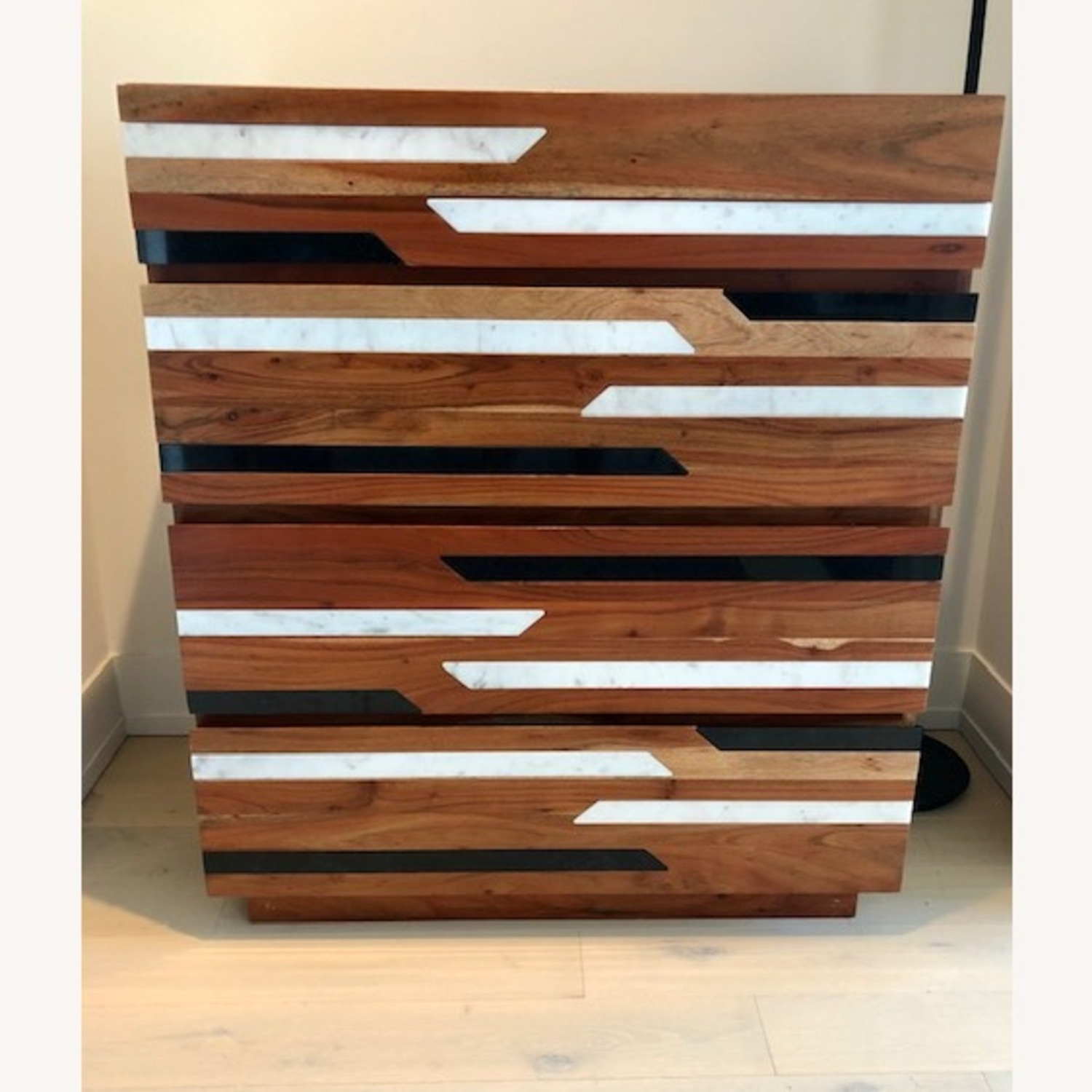 CB2 Edie Marble Inlay Tall Chest - image-4