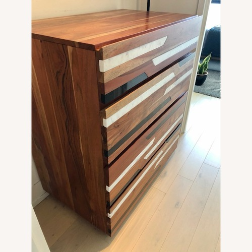 Used CB2 Edie Marble Inlay Tall Chest for sale on AptDeco