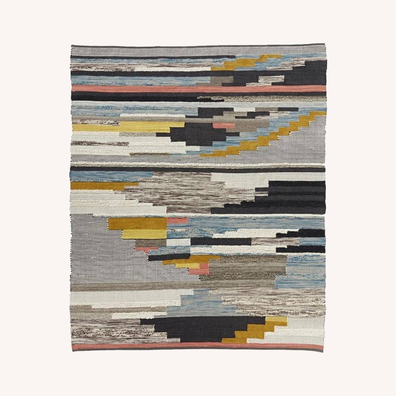 West Elm Multi Pixel Woven Wool Rug - image-0