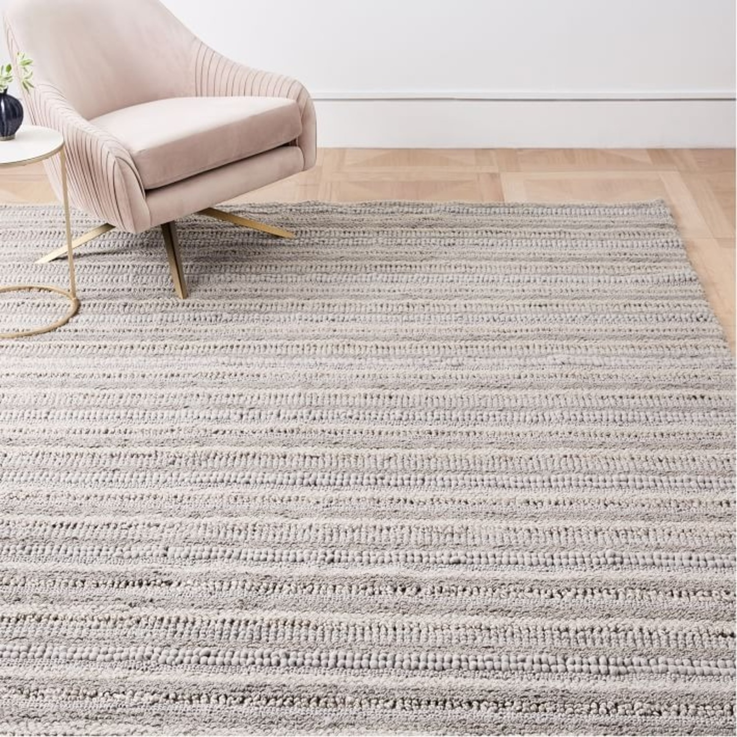 West Elm Stitched Mix Sweater Rug - image-3