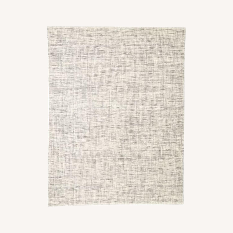 West Elm Heathered Basketweave Wool Rug - image-0