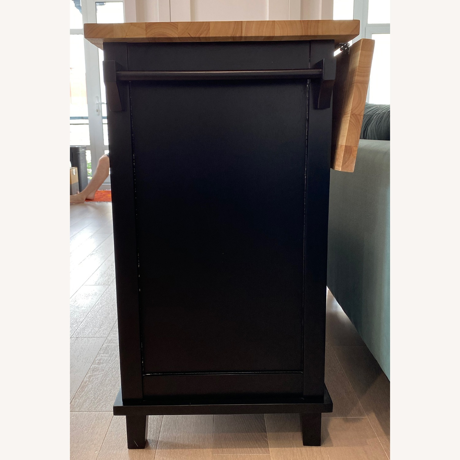 Crate & Barrel Belmont Black Kitchen Island - image-2