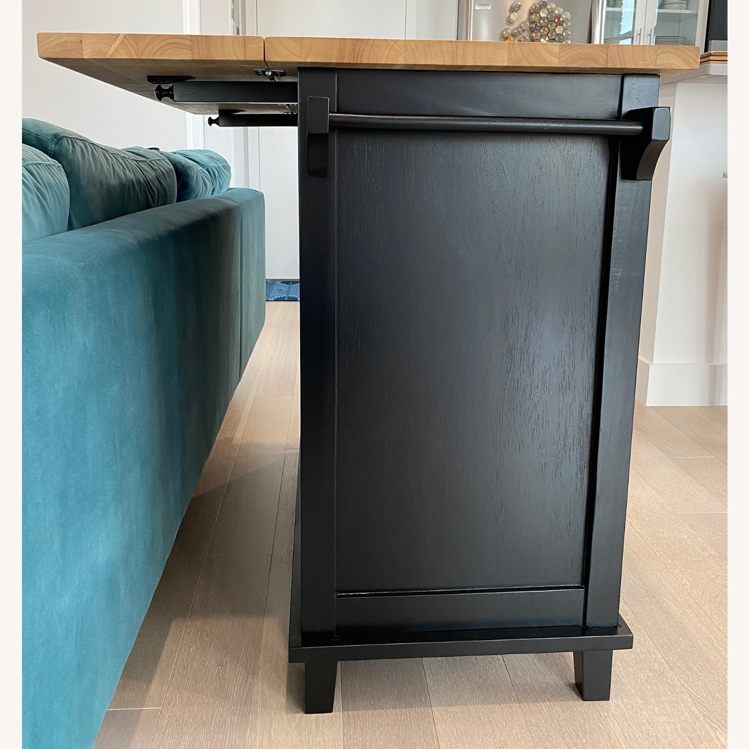 Crate & Barrel Belmont Black Kitchen Island - image-4