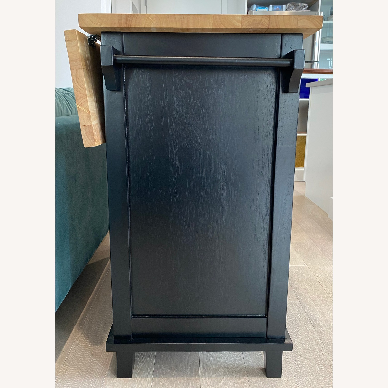 Crate & Barrel Belmont Black Kitchen Island - image-3