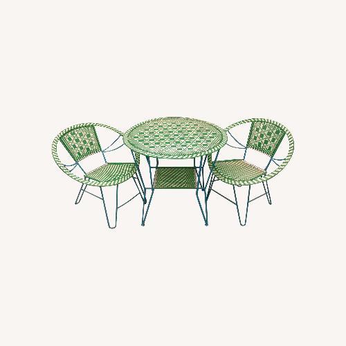 Used Retro Design Patio Set (1 Table, 4 Chairs) for sale on AptDeco
