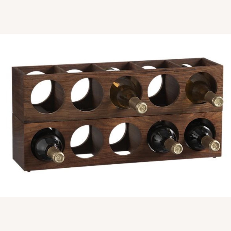 Crate & Barrel wall Mount / Stackable Wine Rack - image-1