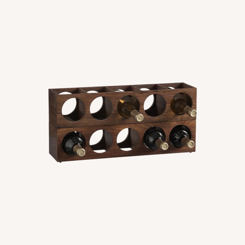 Crate & Barrel wall Mount / Stackable Wine Rack - image-0