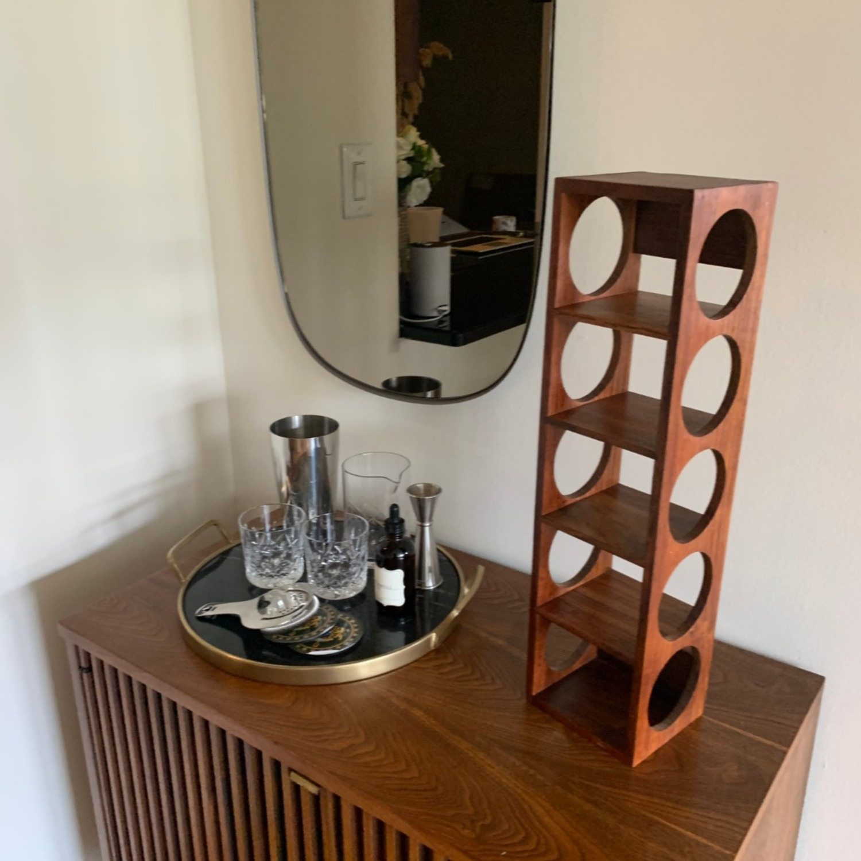 Crate & Barrel wall Mount / Stackable Wine Rack - image-2
