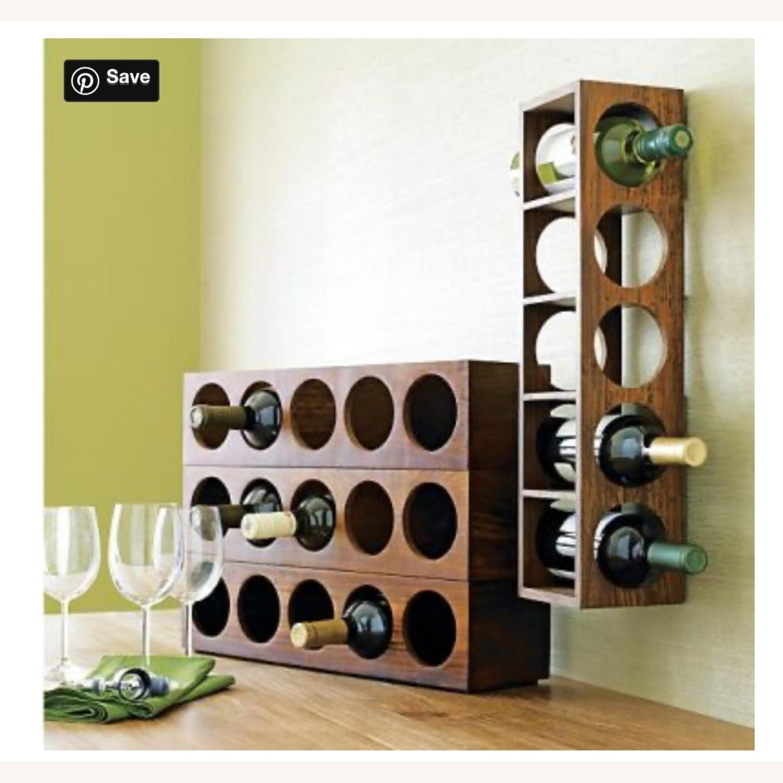 Crate & Barrel wall Mount / Stackable Wine Rack - image-9